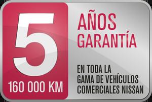 GARANTÍA DEL FABRICANTE POR 5 AÑOS/160.000 KM