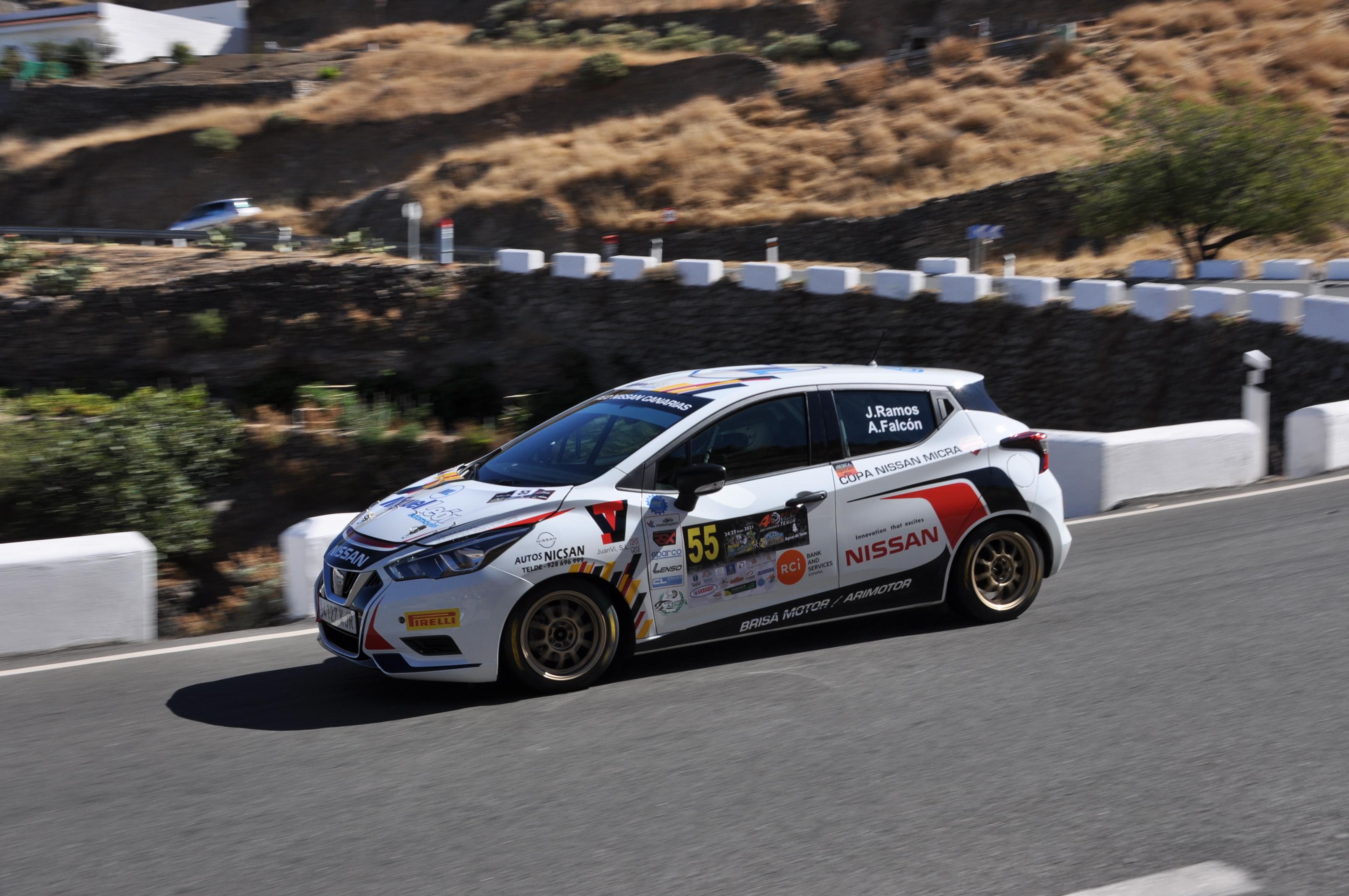 40º Rallye Villa de Teror. Jesé Ramos y Alejandro Falcón dominan.
